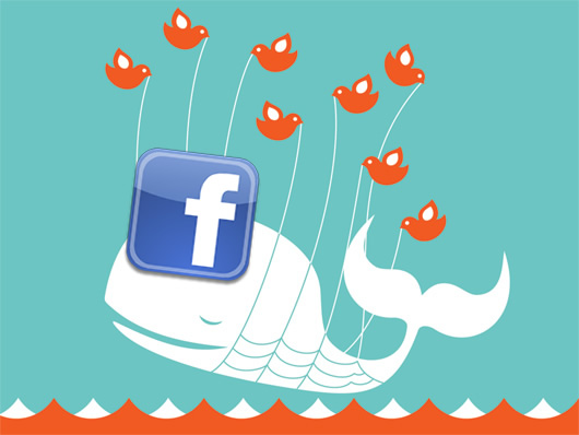 Facebook is riding the fail whale today.